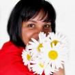 Girl with daisies — Stock Photo #1098421
