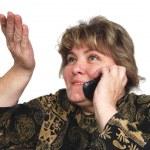 Woman talking on phone — Stock Photo #1098606