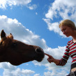 Stock Photo: Girl with horse