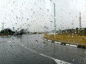 Chuva lá fora — Fotografia Stock