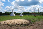 Native American sheleter - teepee — Stock Photo