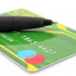 Pen and creditcard — Stock Photo