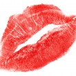 Royalty-Free Stock Photo: Lovely red woman lips isolated on white