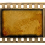Empty vintage 35 mm frame film — Stock Photo