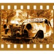 Royalty-Free Stock Photo: Old 35mm frame photo with american retro