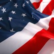 Flapping USA flag with wave — Stockfoto