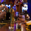 Stock Photo: Beer in stylish night bar