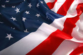 Flapping USA flag with wave — Foto Stock