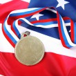 Medal with color Ribbon and USflag — Stock Photo #1031049