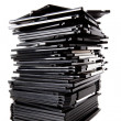 Stock Photo: Stack of floppy disks
