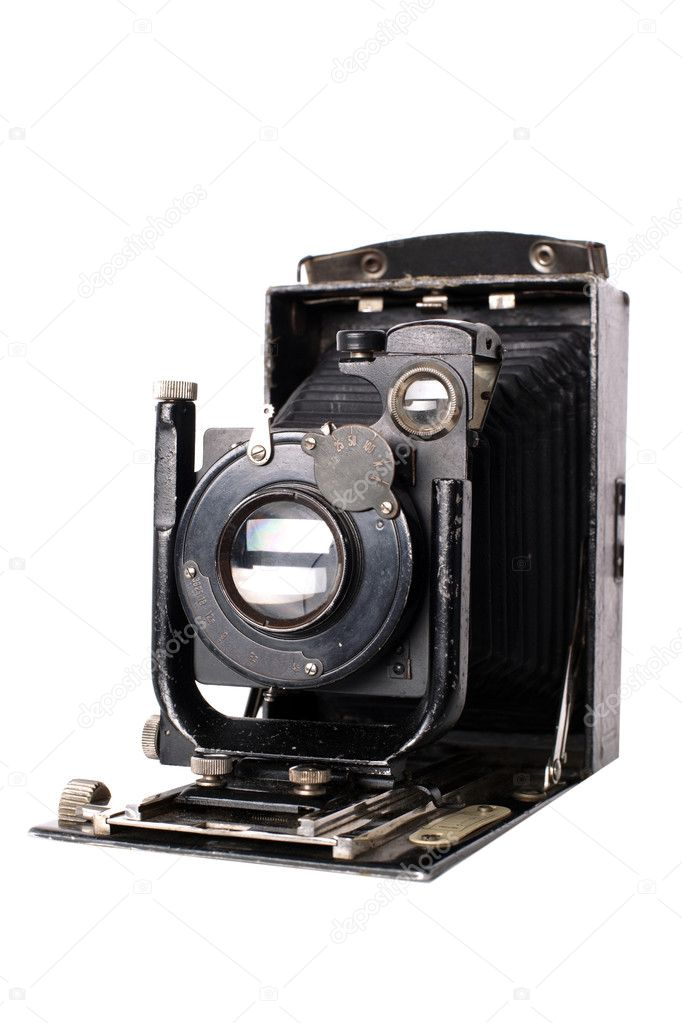 Medium format retro camera isolated on white — Stock Photo #1048782