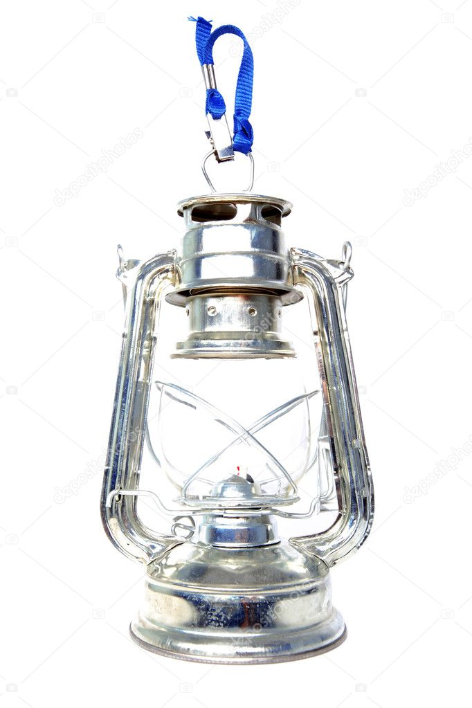 Retro kerosene lantern isolated on white — Stockfoto #1048979
