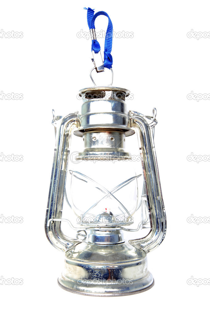 Retro kerosene lantern isolated on white — Zdjęcie stockowe #1048979