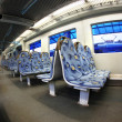 Inside modern train — Stockfoto #1057145