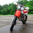 Stock Photo: Sport motocross bike outdoors