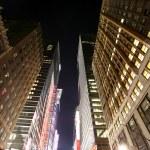 Классическая NY - ночное время в Манхэттене — Стоковое фото