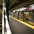 New York subway, Times Square station — Stock Photo