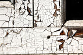 Erosion of paint at old window — Stock Photo