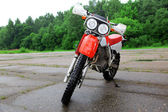 Sport motocross bike outdoors — Stock Photo