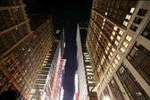Classical NY - nighttime in Manhattan — Stock Photo