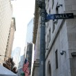 Royalty-Free Stock Photo: Classical NY - Wall St and right side of