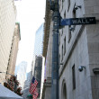 Classical NY - Wall St and right side of — Stock Photo