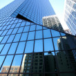 Classical New York- reflections in skysc - Stock Photo