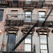 Classical NY - windows and stairways — Stock Photo