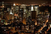 Natten i new york, manhattan — Stockfoto