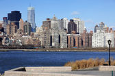 Classical NY - long island, view to Manh — Stock Photo