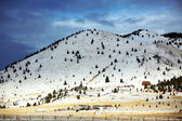 Winter season in rural area of Montana, — Stock Photo