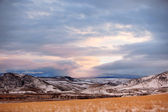 Winter season in rural area of Montana — Stock Photo