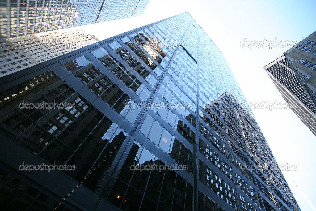 Classical New York - reflections in skyscrapers in Manhattan — Stock Photo #1061425