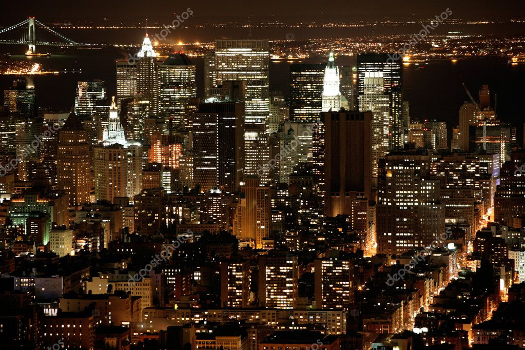 Nighttime in New York, Manhattan  Foto Stock #1063112