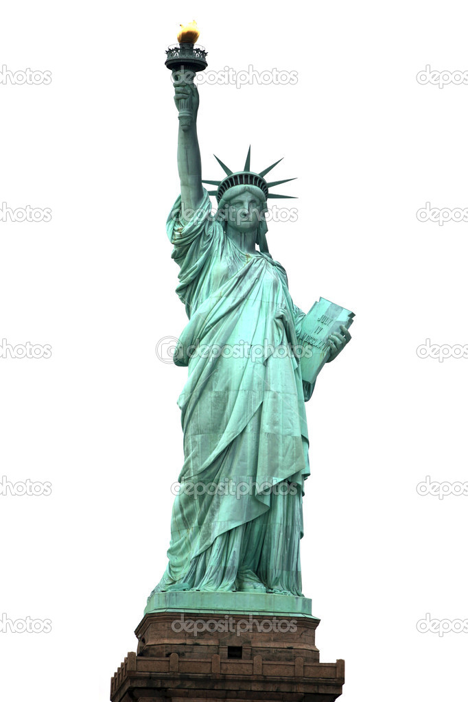 NY Statue of Liberty isolated on white — 图库照片 #1064005