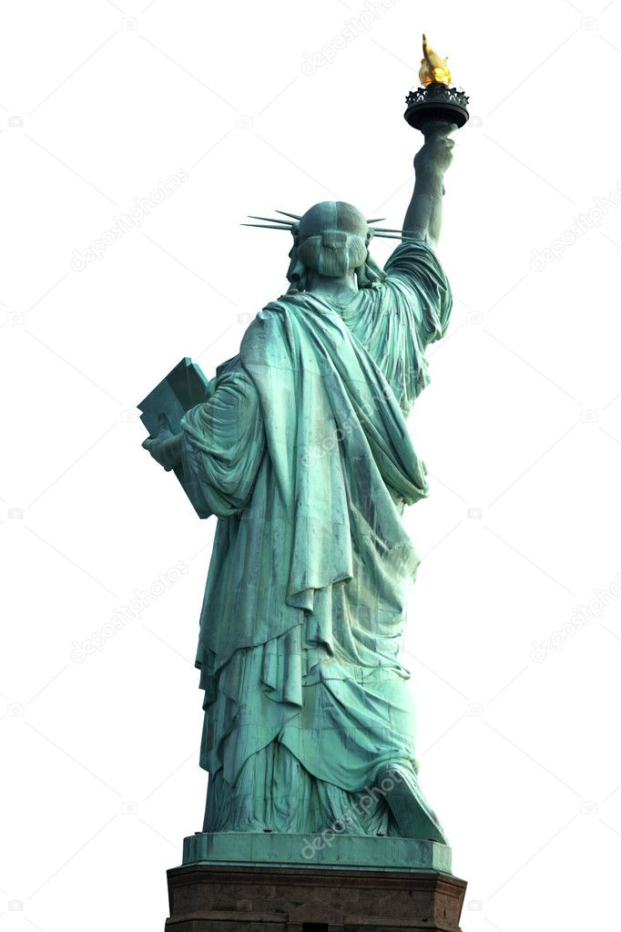 Back of NY Statue of Liberty isolated on white — Stock Photo #1064383