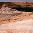 Rock formations and Colorado river in Gl — Stock Photo