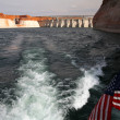 Glen Canyon and Dam at Lake Powell , Ari — Stock Photo