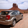 Stock Photo: Car in Monument Valley, Navajo Tribal Pa