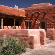Adobe house, pueblo — Stock Photo