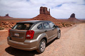 Car in Monument Valley, Navajo Tribal Pa — Stock Photo