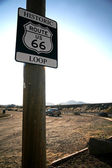 Road Sign in the old Route 66 — Stock Photo