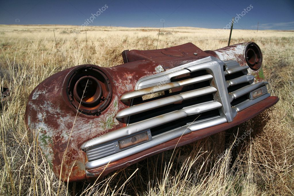 Antique american car outdoors — Stock Photo #1084813