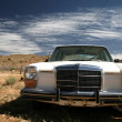 Old usa car in the desert — Stock Photo