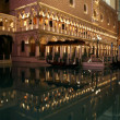 Night street of Las Vegas,casino Venice — Stock Photo