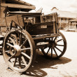 Antique american cart — Stock Photo