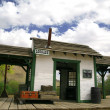 Old train station in wild west - Stock Photo