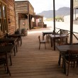 Stock Photo: Old cafe in wild west