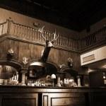 A stylish night bar with retro decor — Stock Photo