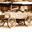 Antique american cart - Stock Photo